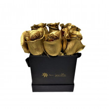 Box Cartera Gold por 6 Rosas
