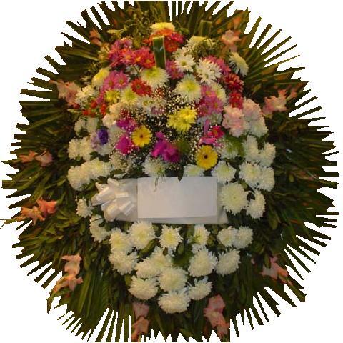 corona de flores para funeral , velatorios , cocherias condolencias
