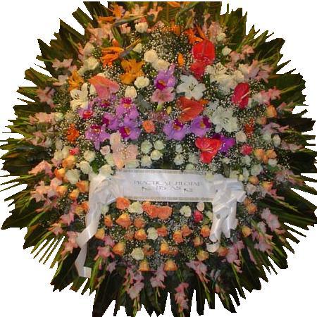 Coronas , Ofrendas florales para funerales , condolencias , cementerios , coronas de flores