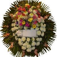 Coronas de flores para velatorios