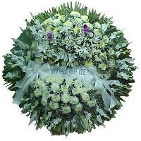 Coronas de flores para cocherias