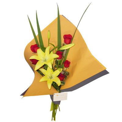 Ramo de flores , Rosas y Liliums