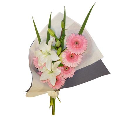 Envio de Flores , Ramo de Liliums y Gerberas