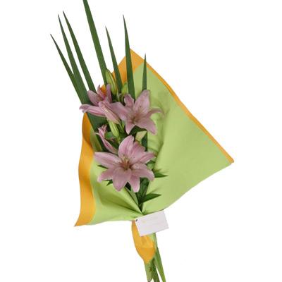 Envio de flores , Ramo de Liliums Rosados