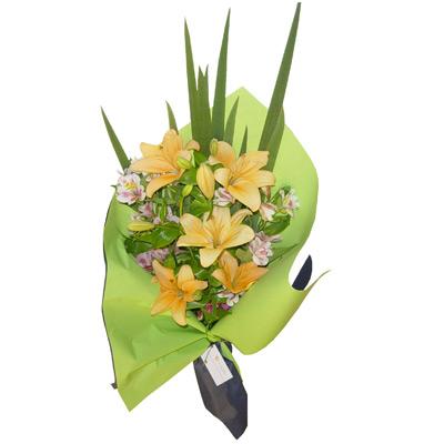 Envio de Flores , Ramo de Liliums y Alstroemerias