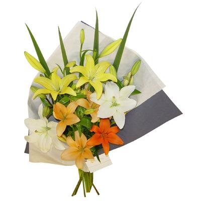 Envio de flores a domicilio , Liliums de colores Surtidos
