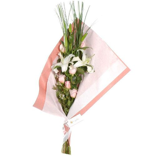 Envio de flores para Regalo , Liliums y Rosas