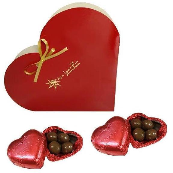 caja corazon con bombones