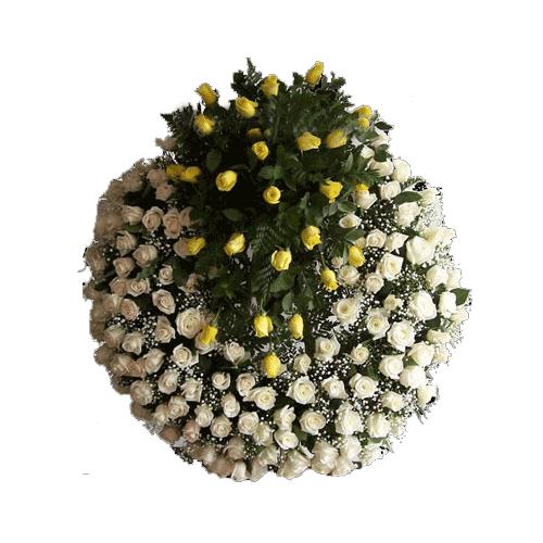 coronas de flores ,rosas , para condolencias , flores para velatorios , funerales