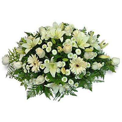bouquet para cajon , flores para condolencias , flores para velatorios , cementerios